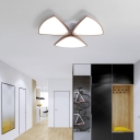 Contemporary Acrylic Ceiling Fixture for Bedroom, 3/4/5 Heads Ceiling Light Fixture in White, 3 Color