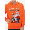 New Arrival Christmas Class Printed Long Sleeve Unisex Casual Hoodie with Pocket