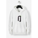 New Fashion Simple Letter Printed Long Sleeve Unisex Casual Drawstring Pullover Hoodie