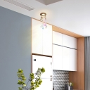 Creative Drop Close to Ceiling Lighting Contemporary Metal 1 Light Ceiling Fixture for Hallway