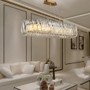 Luxury Linear Pendant Light Clear Crystal Shade 39