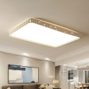 19/37.5 Inch Wide Square/Rectangle Ceiling Mounted Light Modern Led Flush Lamp in Gold/White