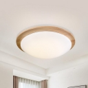 Round Flush Ceiling Light Modernist Acrylic 12