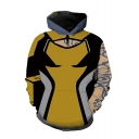 Color Block Long Sleeve Pullover Hoodie with Front Pocket