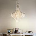 Modern Crystal Hanging Pendant Light Single Light Drop Light in Polished Chrome Finish for Living Room