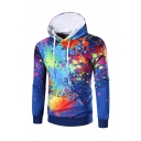 Unisex 3D Digital All Over Colorful Print Casual Pullover Hoodie