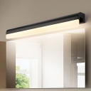 Metal Linear Wall Mount Light Minimalist 1 Light Bathroom Vanity Light with Acrylic Diffuser