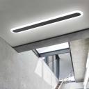Linear Flushmount Lighting Minimalism Acrylic Led Flush Ceiling Light with White Lighting
