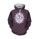 Hot Popular Skull Pattern Letter BREAK DOWN Printed Back Long Sleeve Drawstring Hoodie