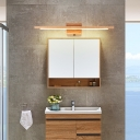 Wooden Vanity Lighting with Cylinder Shade Nordic Modern Led Vanity Mirror Light