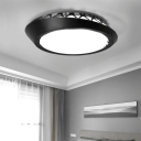 White/Black Circular Ceiling Mounted Fixture Nordic Acrylic LED Ceiling Flush Mount Light in Warm/White for Living Room