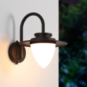 Retro Rustic Conical Shade Wall Light Lamp Sconce with Gooseneck Arm Metal 1 Light Sconce Fixture in Coffee