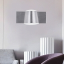 1/2/3 Lights Cone Wall Mount Lamp Modern Metal Stain Silver Led Vanity Mirror Light, Warm/White Light