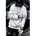 Mens Cool Fashion Letter X Printed Long Sleeve Round Neck Casual Pullover Sweatshirt