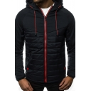 Men's  New Stylish Simple Plain Long Sleeve Zip Up Casual Hoodie Coat