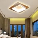 Modern Slim Rectangle Ceiling Lamp Acrylic LED Flush Mount Light in White for Bedroom Foyer