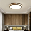 Brown Circular Ceiling Lighting Acrylic Contemporary LED Flush Mount Lamp in Warm/White/Natural, 12