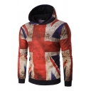 Classic UK Flag 3D Printed Long Sleeve Casual Unisex Pullover Hoodie