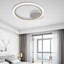 1/2/3 Light Ring Bedroom Ceiling Light Fixture Modern Acrylic Unique Lighting Fixture in White, Warm/White