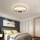 Silver Circle Ceiling Fixture Modern Acrylic 16