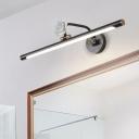 Black/Aged Brass Linear Wall Lighting Modern Metal Led Vanity Light for Bathroom, 14