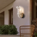 Clear Crystal Curl Wall Mount Light Modern 1/3 Lights Sconce Lighting in Gold for Bedroom