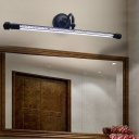 Bathroom Cylinder Vanity Mirror Light Contemporary Metal Led Wall Lamp with Diffuser, 19