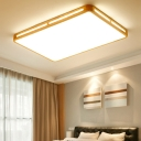 25.5/37.5 Inch Wide Rectangle Ceiling Mounted Light Acrylic Minimalist LED Close to Ceiling Lighting Fixture