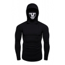 Fashion Skull Mask Long Sleeve Hooded Pullover Hoodie