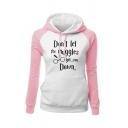 Womens Stylish DON'T LET THE MUGGLES GET YOU DOWN Printed Raglan Long Sleeve Fitted Hoodie
