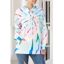 Unique Colorful Vortex Printed Long Sleeve Regular Casual Hoodie