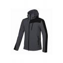 Mens Trendy Color Block Long Sleeve Zipper Decoration Hooded Camping Windbreaker Jacket