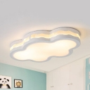 Cloud Living Room Ceiling Mount Light Acrylic Contemporary Stepless Dimming/Warm/White Flush Light