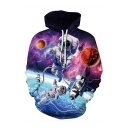 Unisex Adult Outer Space Astronaut 3D Printed Long Sleeve Casual Drawstring Hoodie with Pocket