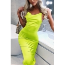 Womens Sexy Fashion Crisscross Open Back Plain Midi Bodycon Dress Club Dress