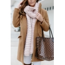 Winter Fashion Solid Color Long Sleeve Flap Pocket Zip Up Longline Loose Wool coat