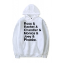 Hot Movie Character Letter Printed Long Sleeve White Unisex Casual Oversized Hoodie