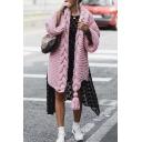 Womens Solid Designer Long Sleeve Braided Tassel Open Front Longline Chunky Knit Cardigan Coat
