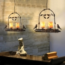 Metal Arced Pendant Lamp Light with/without Marble Shade Vintage 2 Lights Ceiling Lamp Pendant in Copper Patina