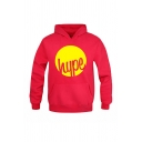 Fashionable HYPR Letter Printed Long Sleeve Kangaroo Pocket Pullover Hoodie