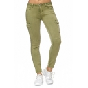 Womens Casual Plain Low Waist Side Flap Pocket Zipper Skinny Jeans Denim Pants