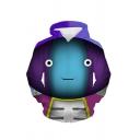 Mens Cute Cartoon Character 3D Print Long Sleeve Pouch Pocket Casual Hoodie