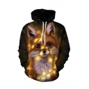 Unisex Popular Christmas Animal 3D Printed Long Sleeve Casual Drawstring Hoodie