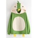 Womens Cute Penguin Cosplay Long Sleeve Casual Loose Pullover Hoodie