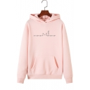 Womens Fashionable Heartbeat Cat Printed Long Sleeve Loose Relaxed Pullover Hoodie with Pocket