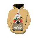 3D Christmas Series Santa Claus Snowflake Snowman Printed Long Sleeve Unisex Drawstring Hoodie