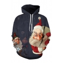 Unisex 3D Ugly Christmas Santa Pirate Elk Pattern Fashion Long Sleeve Relaxed Casual Hoodie