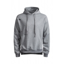 Mens Stylish Solid Color Ripped Long Sleeve Side Split Baggy Drawstring Hoodie