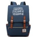 Unisex Stylish Alphabet Printed Zip Placket Casual School Bag Backpack