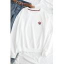 Womens Cute Alien Pattern Long Sleeve Baggy Casual Pullover Sweatshirt